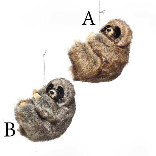 Plastic Sloth Ornament 4in.