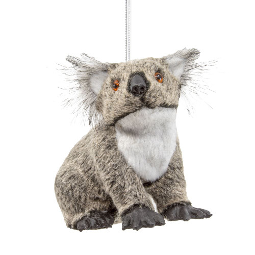 Furry Koala Bear Ornament 3in.