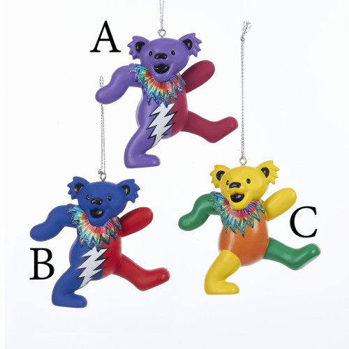 Grateful Dead Bears Ornament 3in.