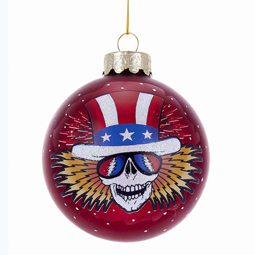Grateful Dead Glass Ball Ornament