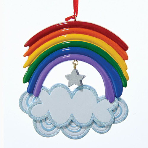 Resin Rainbow Ornament 4.75in.