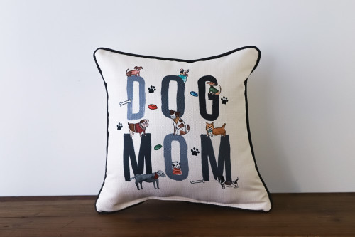 Dog Mom with Various Adorable Dogs Square Pillow