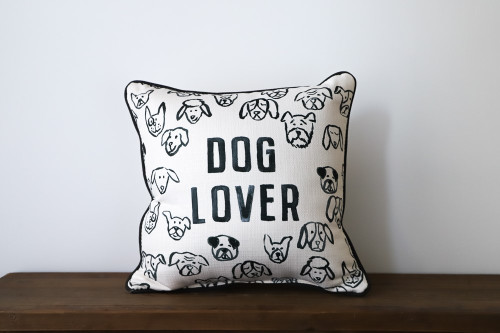 Dog Lover with Various Adorable Dogs Square Pillow