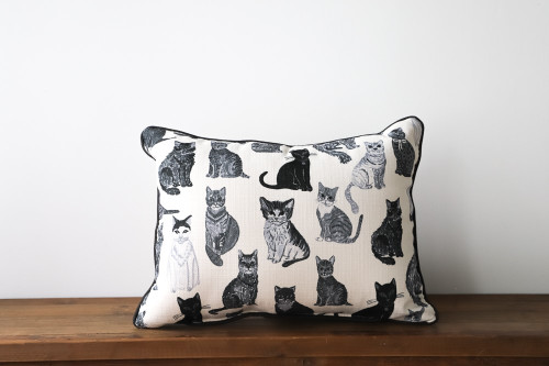 Various Adorable Cats Pattern Rectangle Pillow