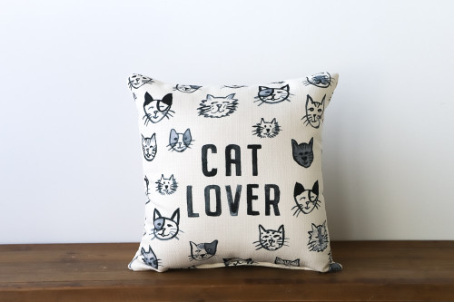 Cat Lover with Various Adorable Cats Square Pillow