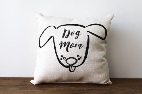 Dog Mom Square Pillow