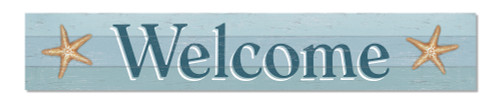 Outdoor Sign - Welcome with Starfish - 8x47