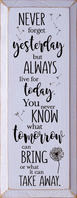 Lavender - Never forget yesterday, but always live for today. You never know what tomorrow can bring, or what it can take away.