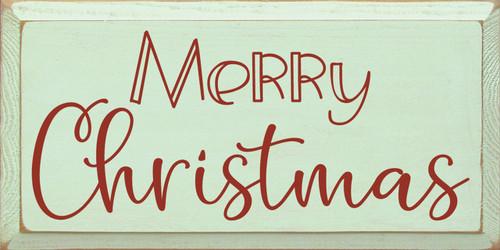 Merry Christmas - Fun Wood Sign 9x18