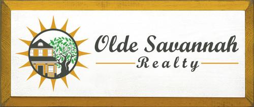 CUSTOM Wood Sign Olde Savannah Realty 8x19