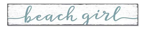 Outdoor Sign - Beach Girl - 8x47 Horizontal