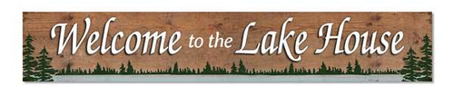 Outdoor Sign - Welcome To The Lake House - 8x47 Horizontal