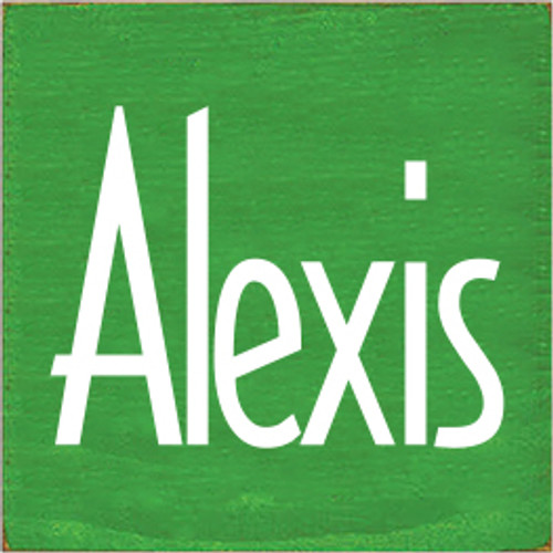 7x7 Kelly board with White text  Alexis