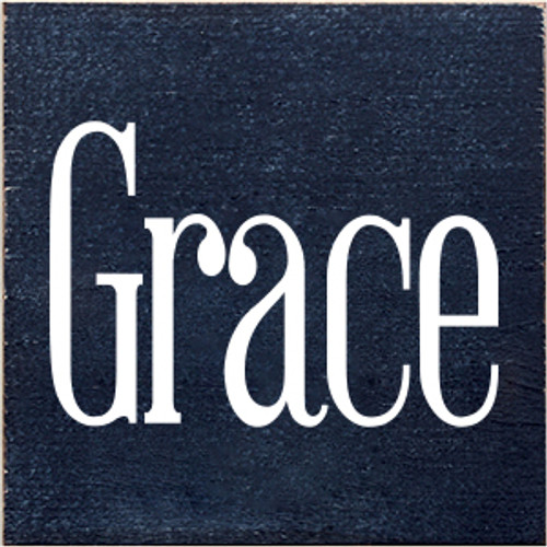 CUSTOM Wood Sign Grace 7x7