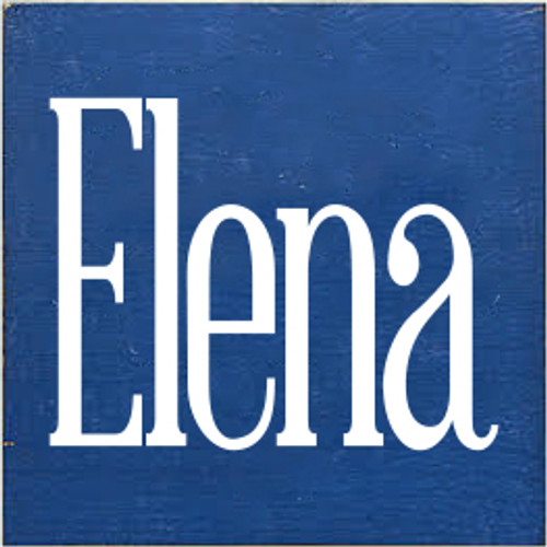 7x7 Royal board with White text  Elena
