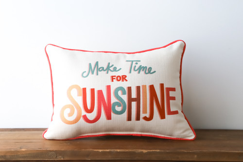 Make Time For Sunshine Rectangle Pillow