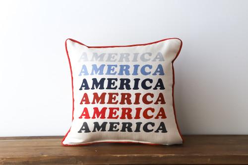 America Colorful Gradient Square Pillow