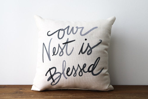 Our Nest Is Blessed Square Pillow