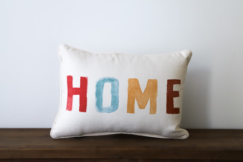 HOME Colorful Rectangle Pillow
