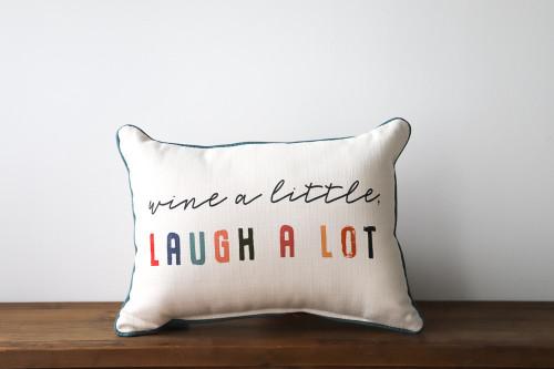 Wine A Little Laugh A Lot Rectangle Pillow