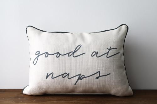 Good At Naps Rectangle Pillow