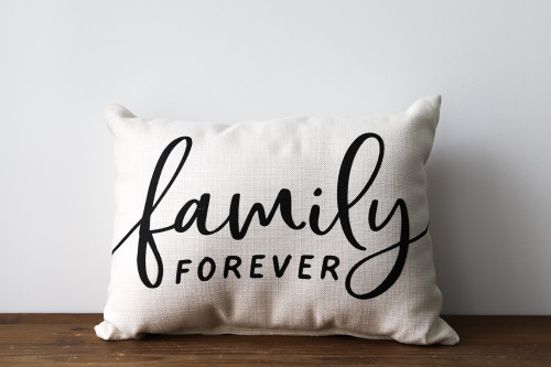 Family Forever Rectangle Pillow