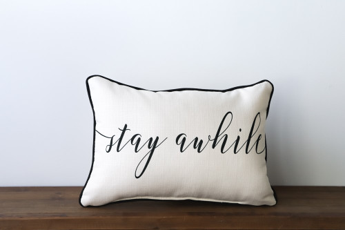 Stay Awhile Rectangle Pillow