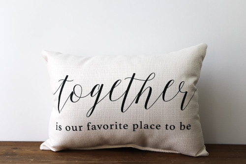 Together Is Our Favorite Place To Be Rectangle Pillow