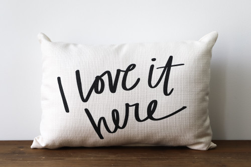 I Love It Here Rectangle Pillow