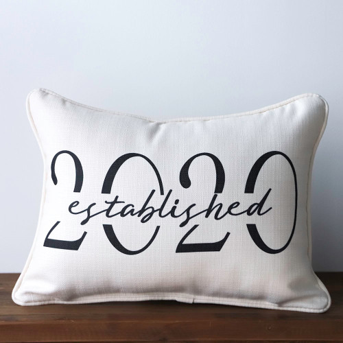 Custom Established Year Rectangle Pillow