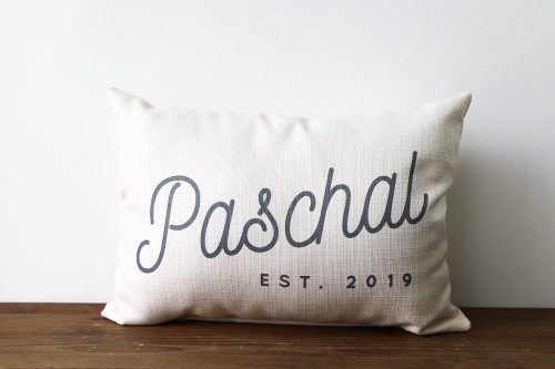 Custom Last Name With Established Year Rectangle Pillow