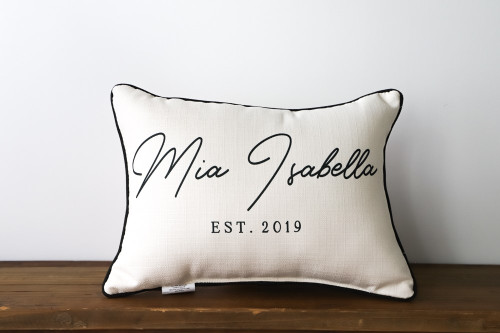 Custom Name With Birth Year Rectangle Pillow