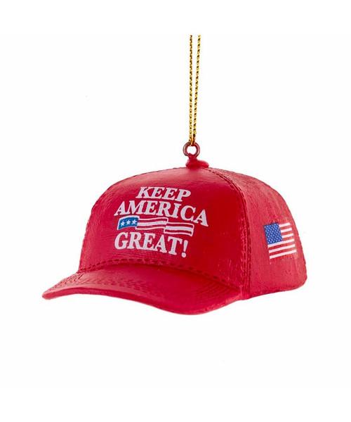 "Resin ""Keep America Great"" Hat Ornament"