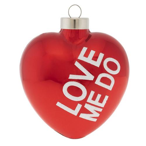 The Beatles Love Me Do Heart Ornament