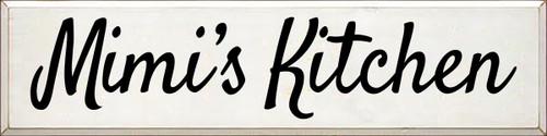 9x36 White board with Black text Mimi's Kitchen