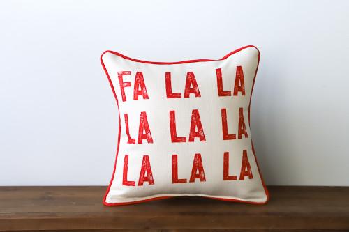Fa La La La La La La La La - Christmas Square Pillow