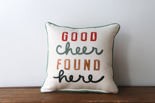 Good Cheer Found Here - Christmas Square Pillow