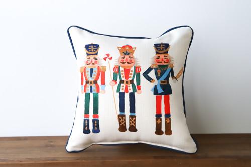 Three Nutcrackers - Christmas Square Pillow
