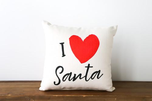 I Love Santa - Christmas Square Pillow