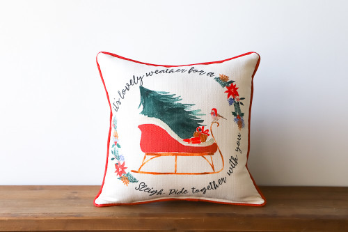 It's Lovely Weather For A Sleigh Ride Together With You - Christmas Square Pillow