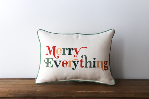 Merry Everything - Christmas Rectangle Pillow
