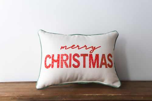 Merry Christmas - Rectangle Pillow