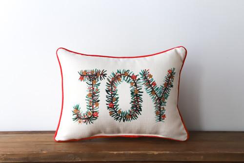 Joy - Christmas Rectangle Pillow