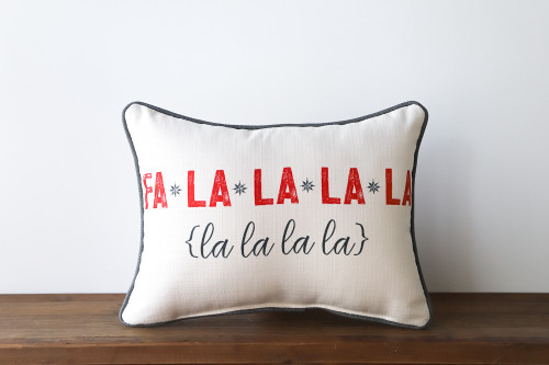 Fa La La La La La La La La - Christmas Rectangle Pillow