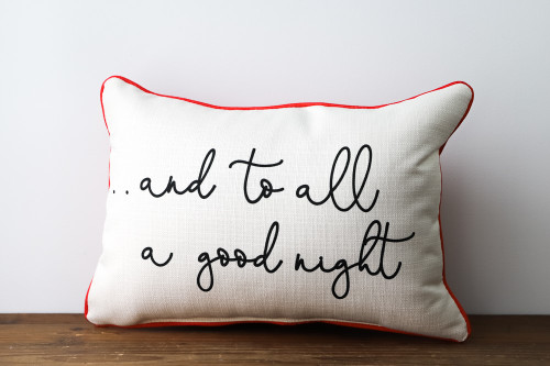 And To All A Good Night - Christmas Rectangle Pillow