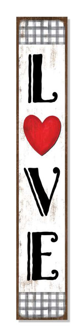 Outdoor Sign - Love - Valentine's Day Vertical Porch Board 8x47