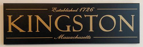 Wood Sign - Kingston, Massachusetts Established 1726