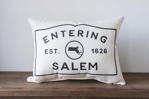 Custom Massachusetts Entering Sign Rectangle Pillow