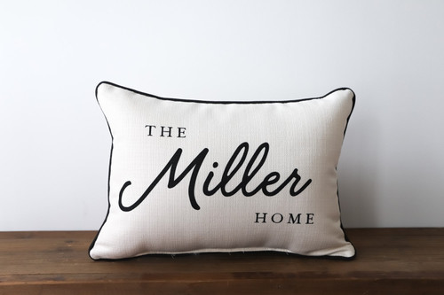 The [Custom Last Name] Home Rectangle Pillow