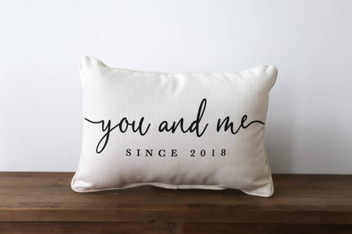 You And Me Since [Custom Year] Rectangle Pillow